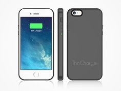 ThinCharge iPhone 6/6S Battery Case: Get 200% Battery Charge with the Lightest & Thinnest Battery-Charging Case Ever Made