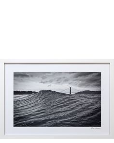 C-type photographic print framed in painted white wood with acrylic, signed by…