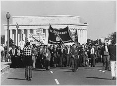 Vietnam War Timeline: 1965-1966: Anti-War Backlash in  U.S. and Abroad - Veterans march against the Vietnam War, Washington D.C. (1967). White House Collection / National Archives