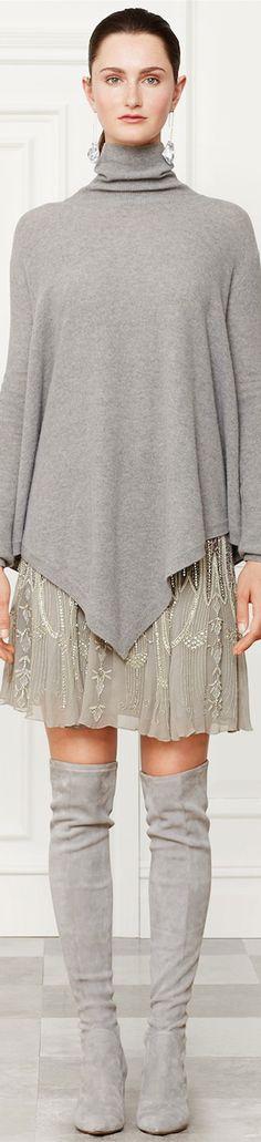 Ralph Lauren Fall 2014 Collection Silk Montgomery Skirt