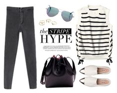 """""""Stripe Hype"""" by genuine-people ❤ liked on Polyvore featuring Whiteley, Cutler and Gross, Lipsy, Miu Miu, casual and stripes"""