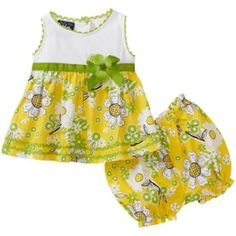 So La Vita Baby-girls Newborn Knit Yoke Flower Woven Skirt