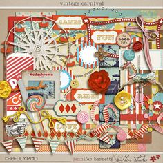 Vintage Carnival kit by Sahlin Studio.  LOVE this kit and the sample LO's here are FABULOUS!  :)
