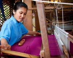 Artisan d'Angkor silk farm located in Pouk, about half an hour of Siem Reap.