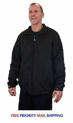 $69 Free EXP Ship Croft & Barrow Big & Tall Men's Faux Suede Jacket XLT Black NEW/NWT $150 RET #CroftBarrow #FauxSuedeJacket