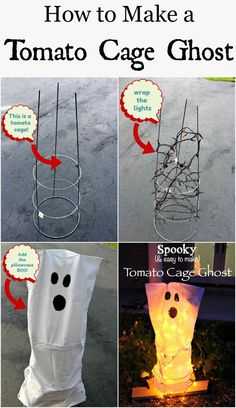 How to Make Your Own Tomato Cage Ghost