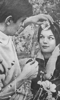 Romy Schneider & Alain Delon 1959