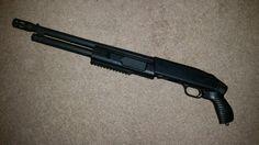 My Mossberg 500 Flex Tactical 12-gauge shotgun.