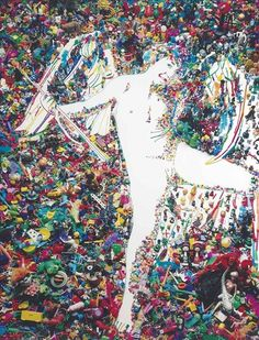 Vik Muniz, Cupid, After Caravaggio (Rebus Series)