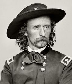 George Armstrong Custer (December 1839 – June was a United States Army officer and cavalry commander in the American Civil War and the Indian Wars. ~~ Born in New Rumley, Ohio - Visit to grab an amazing super hero shirt now on sal Western Film, American Civil War, American History, Indira Ghandi, Carolina Do Sul, Battle Of Little Bighorn, Soldier Blue, George Custer, Mississippi