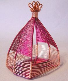 wire weaving basket by Jodi Bombardier - from Wire Jewelry Making: Explore Basket Weaving Techniques with Wire Jewelry Artists - Jewelry Making Daily