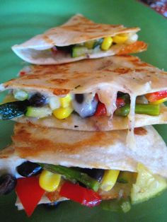 Roasted Summer Veggie Quesadillas