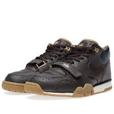 19dd55268a4d4 Buy the Nike Air Trainer 1 Mid PRM QS  Brogue  in Velvet Brown from leading  mens fashion retailer END.