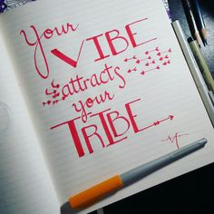 Your VIBE attracts your #tribe // Keep the #positive vibes going, and wonderful things happen! Looking to start a #forest tribe of shiny, happy people... Any takers? >----> #calligraphy #calligrapher #moderncalligraphy #teamscribebynight #lettering #handlettering #fonts #writing #handwriting #quote #quotes #wisdom #positivevibes #inkandnib #ink #freehand #letteringleague #justwriteit #workhardplayhard #keepwriting #keepwritingalive #penmanship #pilotparallelpen
