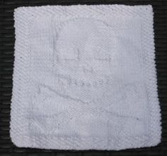 Skull and Crossbones Knit Dishcloth My daughter would love this
