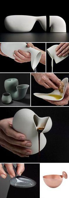 thedesignwalker:  Aldo Bakker porcelain tableware, industrial design, collabcubed Discover more…