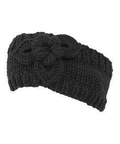 Look what I found on #zulily! Black Floral Crochet Head Wrap by Magid #zulilyfinds