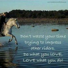 Love to drive (it shows a picture of a horseback rider, but I like to drive instead.