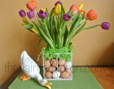 This is my favorite day of the year, the first day of Spring! It means bunnies and tulips and more Tulips And more tulips! Time for Refreshing Spaces for Spring April Showers and getting a Little Fancy Greening grass, an Easter Egg… Easter Table, Easter Eggs, Kitchen Arrangement, Winter Plants, Easter 2020, Easter Flowers, Pink Tulips, Happy Spring, Egg Hunt