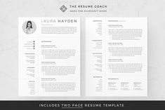 In need of a great professional resume design but lack the skills to design one or simply don't have access to expensive design software? Considered to be the best resume template for Microsoft Word by over 11.000 customers worldwide, TheResumeCoach gives non-designers a powerful tool to quickly create a visually stunning and eye-catching resume.#resume #jobsearch #jobs #cv #career #job #resumetips #hiring #employment #resumewriter #recruitment Modern Resume Template, Creative Resume Templates, Cv Template, Professional Resume Template, Professional Cv, Templates Free, Teaching Resume, Resume Writing, Resume