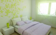 The Various Bedroom Ideas for Young Women in Modern Era: Small Bedroom Ideas For Young Women Beautiful Green Leaf Wall Decals ~ stepinit.com Bedroom Designs Inspiration