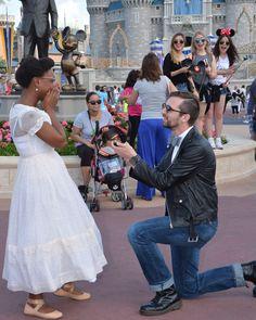 whiteboysdatingblackgirls:  Me (misha-mouse) and Madi (the-lieutenant-bunny) at our Dapper Day engagement at Walt Disney World's Magic Kingdom! @ColorBlindLove!♡