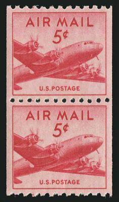 Scott# C37, 1948 5c Carmine, PSE Gem 100, Mint OGnh  http://www.collectorscorner.com/Products/Item.aspx?id=20432211  #Carmine #Perfectly #Centered #USA #Postage #PSE #Gem #Mint #OGNH #OriginalGum #NeverHinged #Collectors #Scott #Catalogue #Airmail #PostOffice #Fresh #Philately
