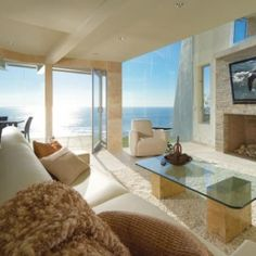 Gorgeous contemporary Laguna Beach house features stylishly designed interiors.