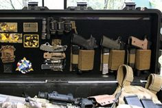 Tired of not having a decent organizer in your rifle case? Well, there is a fairly simple fix that could be as cheap as $60. When I purchased my Pelican 1740, I was looking at the lid and thinking there was a lot of potential space wasted.    It dawned on me that it could be a great place for a velcro panel, but there were some snags. By creating your own panel, you have nearly endless possibilities in storing handguns, magazines, knives and almost any other accessory.