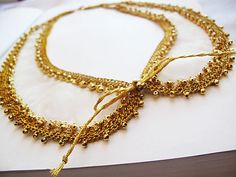 gold  embroidered collar necklace  gold plated by aynurdereli, $37.00