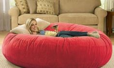 This Giant Bean Bag Chair Lounger would rock on my classic movie nights! Gotta find this!