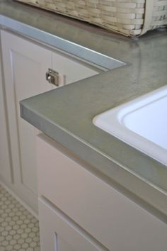 Affordable Galvanized Kitchen Counters In Serena Thompsonu0027s Laundry Room.  Farmhouse.
