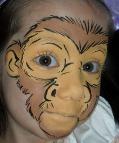 Trucco del viso per Carnevale per bambini da scimmia