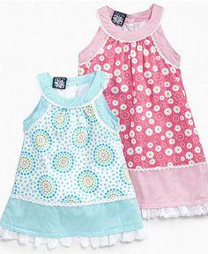 So La Vita Baby Dress, Baby Girls Print Poplin Sundress