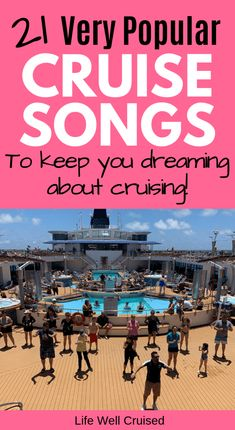If you love cruise music, you'll love this cruise song playlist. All the popular songs that make you dream of cruising, vacation, beaches and good times with family and friends. Top Cruise, Best Cruise, Cruise Port, Cruise Travel, Cruise Vacation, Italy Vacation, Vacations, Disney Cruise, Honeymoon Cruises