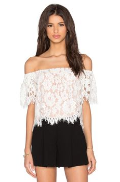 e41f8631c3136 Shop for Alexis x REVOLVE Fernanda Top in White Lace at REVOLVE. Free day  shipping and returns