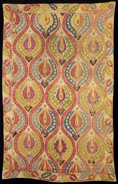 Turkey    Cover, 17th century    Linen, plain weave; embroidered with silk in running stitches, pattern darning; lined with cotton, plain weave  217 x 139.5 cm (85 1/2 x 54 7/8 in.)
