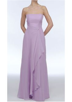 High quality 2015 Sleeveless Chiffon Ruched Strapless Lilac Floor Length Mother of the Bride Dresses MBD0019 from Formalgirldresses.com Online Shop!