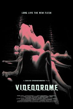 "Videodrome - David Cronenberg 1983 - ""Cable TV programmer Max Renn seeks out the ultimate in bizarre shows for his channel. He meets a mysterious supplier named Harlan who gives him access to an underground network called ""Videodrome"". Film Science Fiction, Fiction Movies, Sci Fi Movies, Cult Movies, Horror Movie Posters, Cinema Posters, Horror Movies, Film School, Alternative Movie Posters"