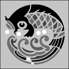 Japanese Carp stencils, stensils and stencles