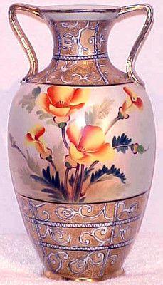 Antique Hand Painted Nippon Old Noritake Floral Vase | eBay