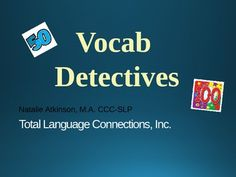 An interactive PowerPoint games that focuses on listening skills and vocabulary development.  This game targets 2nd-3rd grade level vocabulary.  Students have to identify words when the definition is presented.  Divide your class into teams and make this activity into an engaging class game.