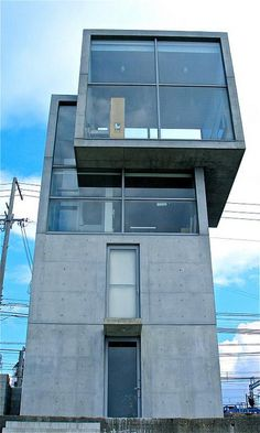 house tadao ando kobe, japan More About Us… Japan Architecture, Minimalist Architecture, Interior Architecture, Tadao Ando, Small Buildings, Amazing Buildings, Kobe Japan, Weekend House, Tower House
