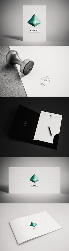 Identité visuelle entreprise minimal : logotype pyramide et papeterie. Minimal, Playing Cards, Creations, Icons, Logo, Corporate Design, Business, Paper Mill, Photography