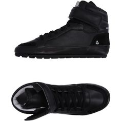 Isabel Marant Étoile High-tops & Sneakers ($260) ❤ liked on Polyvore featuring shoes, sneakers, black, black velcro sneakers, high top velcro sneakers, black hi top sneakers, high-top sneakers and black high top shoes