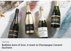Bubbles born of love: A toast to Champagne Canard-Duchene Paper News, Champagne, Bubbles, Toast, Love, Drinks, Bottle, Amor, Drinking