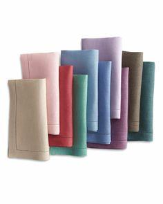 hemstitch linen napkins