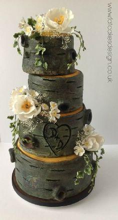 tree trunk wedding cake | FATCAKES DESIGN