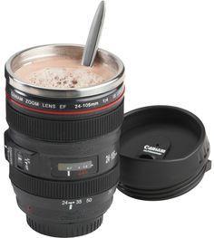 Camera lens coffee mug!
