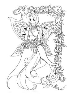 Lineart - Fairy pic by back2life on DeviantArt Fairy Fae Fantasy Myth Mythical Mystical Legend Elf Wings Fantasy Elves Faries Coloring pages colouring adult detailed advanced printable Kleuren voor volwassenen coloriage pour adulte anti-stress kleurplaat voor volwassenen